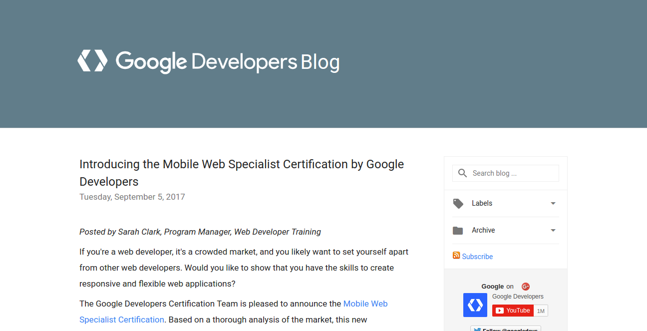 Certification Program Google Betapage